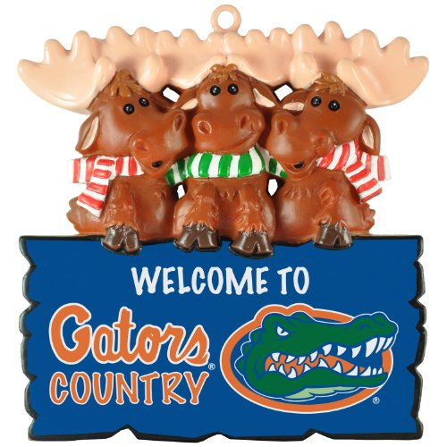 "Florida Gators NCAA ""Welcome to Gators Country"" Hanging Moose Ornament (Appx 3.5″)"