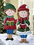 Christmas Caroller Outdoor Garden Stakes Boy