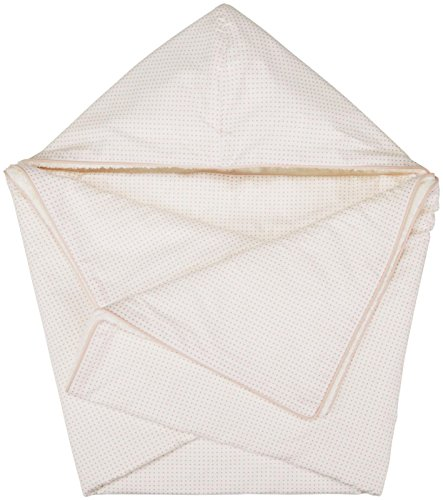 DwellStudio Hooded Towel - Pin Dot Peach