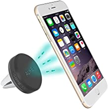 Aukey ® Air Soporte Magnético para Rejilla de Ventilación de Coche, Montaje del coche del apretón, Rejilla de ventilación magnética, Horquilla del sostenedor universal para iPhone 6 / 6 Plus / 5 / 5S / 5C / 4 / 4S, Samsung Galaxy S6 / S5 / S4 / Note 4/3, Google Nexus, LG G3 y cualquier otro teléfono inteligente o dispositivo GPS