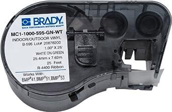 Etiquetas MC1-1000-595-GN-WT para BMP53 / Impresoras BMP51: Amazon.com