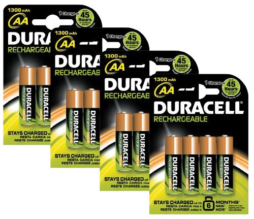 piles rechargeables duracell pile rechargeable aa x 16. Black Bedroom Furniture Sets. Home Design Ideas