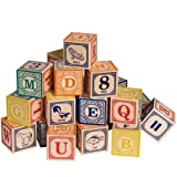 Classic Alphabet ABC Blocks With Canvas Bag by Uncle Goose