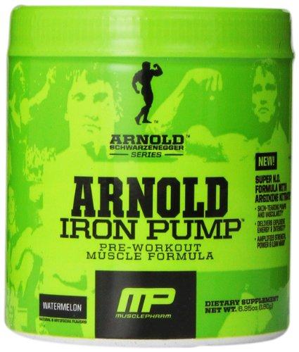 Muscle Pharm Arnold Schwarzenegger Series Iron Pump Pre-Workout Formula, Watermelon, 6.35 Ounce (Arnold Iron Pump Pre Workout compare prices)