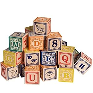 Uncle Goose Classic Alphabet Blocks by Lindenwood