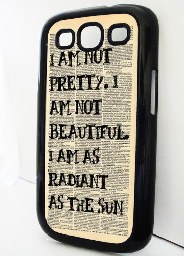 Black Samsung Galaxy S3 Case Hunger Games I AM RADIANT