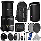 Sigma 18-250mm f 3.5-6.3 DC Macro OS HSM Lens for CANON DSLR Cameras w Advanced Photo and Travel Bundle