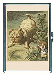 Alice in Wonderland Puppy Stainless Steel ID or Cigarettes Case (King Size or 100mm)