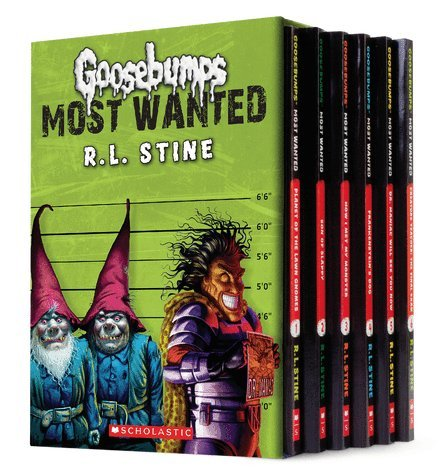 Goosebumps Most Wanted By Rl Stine Boxed Set Of Six Paperbacks Includes #1: Planet Of The Lawn Gnomes, #2: Son Of Slappy: #3: How I Met My Monster #4: Frankenstein'S Dog, #5: Dr. Maniac Will See You Now, #6: Creature Teacher: The Final Exam