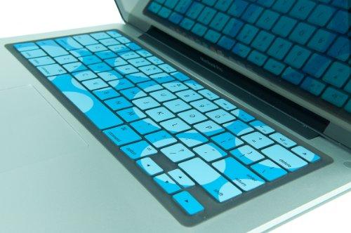 Kuzy  Circles Hot Teal / Aqua Keyboard Cover Silicone Skin for MacBook Pro 13
