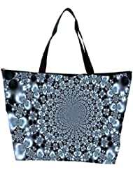 Snoogg Abstract Black Design Designer Waterproof Bag Made Of High Strength Nylon - B01I1KGMB6