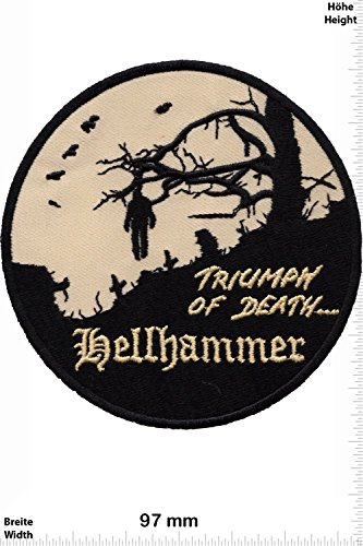 Patch - Hellhammer - Triumph of Death - MusicPatch - Rock - Chaleco - toppa - applicazione - Ricamato termo-adesivo - Give Away
