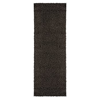 "Sweet Home Stores COZY2764-3X8 Runner Rug, 27"" x 8, Charcoal Gray"