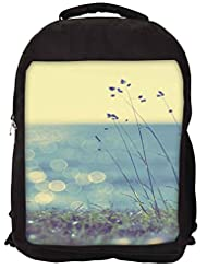 Snoogg Coast Grass Sunshine Backpack Rucksack School Travel Unisex Casual Canvas Bag Bookbag Satchel