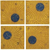 The Beautiful Set Of 4 Wood Wall Plaque By Woodland Import