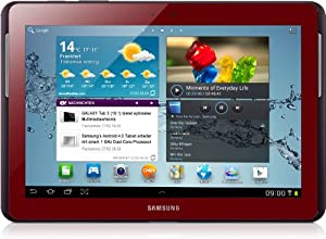 Samsung Galaxy Tab 2 GT-P5100GRADBT 3G+WiFi Tablet (1GHz Dual Core Prozessor, 25,7 cm (10,1 Zoll) Display, 3,2 Megapixel Kamera, 16GB Speicher, Android 4.0) garnet-red