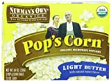 Newmans Own Organics Pops Corn, Organic Microwave Popcorn, Light Butter, 3-Count, 8.4-Ounce Boxes (Pack of 12)