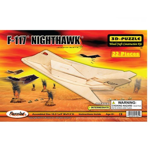 F-117 Fighterplane 3D Woodcraft Construction Kit