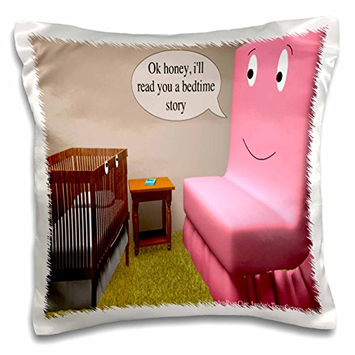 Londons Times Funny Society Cartoons - Bedtime Story As Told By - 16x16 inch Pillow Case (pc_1708_1)