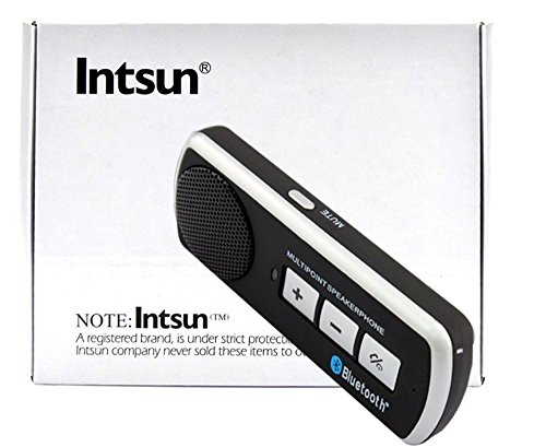 Intsun® Bluetooth Handsfree Car Kit Speaker. The Original Multipoint Bluetooth Speakerphone. Supports: Apple Iphone 4 Iphone 4S, Iphone 5, Blackberry, Htc, Samsung, Galaxy S3, Galaxy S2, Sony, Nokia And Any Bluetooth Enabled Device