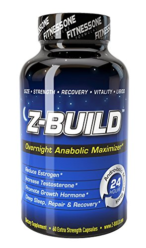 Z-BUILD--OVERNIGHT ANABOLIC MUSCLE BUILDER--60 Capsules: Scientifically designed to promote deeper sleep while maximizing both anabolic muscle support through increased testosterone levels, reduced estrogen, and accelerated recovery speed.