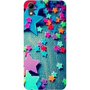 Casotec Colorful Stars Design Hard Back Case Cover for HTC Desire 626