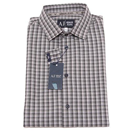 8407P camicia quadri manica lunga ARMANI JEANS uomo shirt men [L]