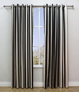 Amazon.com: Scatterbox Lexington Onyx Vertical Stripe Satin Ready Made