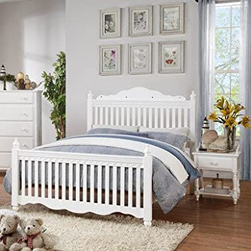Homelegance Emmaline 2 Piece Kids Slat Bedroom Set in White