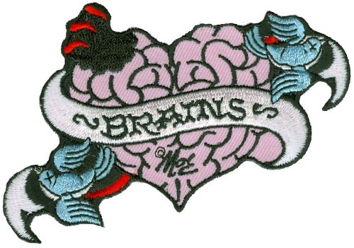 Mitch O'Connell - Zombie Brains Tattoo - Embroidered Patch