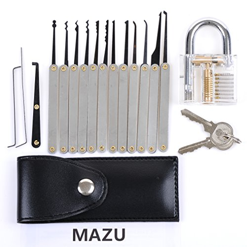 MAZU® 12-Piece Unlocking Lock Pick Set Key Extractor