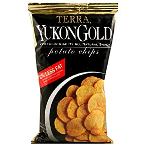 Terra Original Yukon Gold Potato Chips, 5 Ounce Bags (Pack of 12)