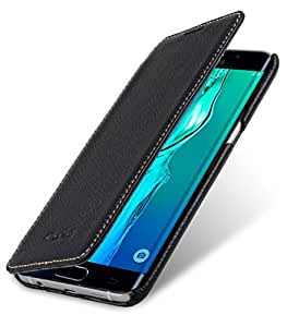 Melkco Face Cover Book Type Premium Leather Case with 2 card slot for Samsung Galaxy S6 Edge Plus (Black LC)