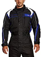 Roleff Racewear Chaqueta de Moto Motorrad (Negro / Azul)