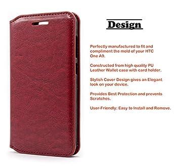 03. Nagebee - HTC A9 Wallet Flip Fold Case Pouch Cover Fold Stand case Premium Leather Wallet Flip Case