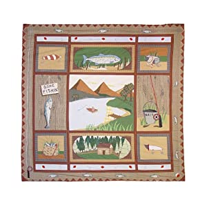 Amazon.com: Patch Magic Twin Gone Fishing Duvet Cover, 70-Inch by ...