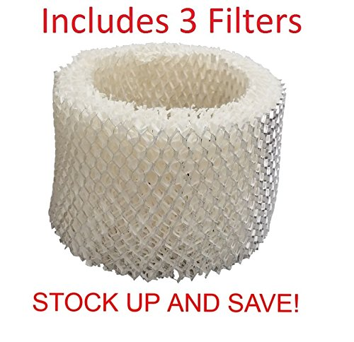 Humidifier Filter Replacement for Protec Kaz Vicks WF2 - 3 Pack (Replacement Filter Kaz Wf2 compare prices)