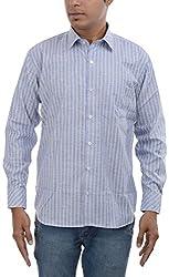 Major Sab Men's Casual Shirt MS7126L3_Blue_XXL