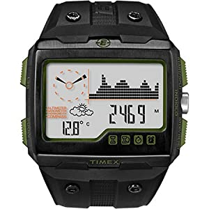 Timex Expedition WS4 Altimeter, Barometer & Compass, Black/Green