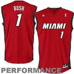 NBA Miami Heat Chris Bosh #1 Youth Swingman Atlernate Jersey, Red by adidas