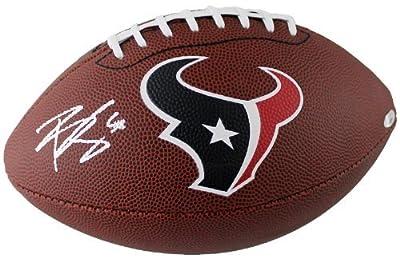 Brian Cushing Autographed Houston Texans Logo Football TRISTAR COA