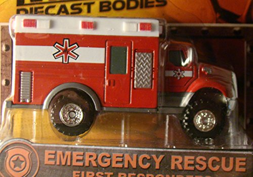 Tonka Metal Diecast Bodies First Responders EMERGENCY RESCUE EMS / Ambulance