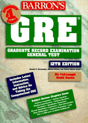 Barron's GRE: Graduate Record Examination General Test