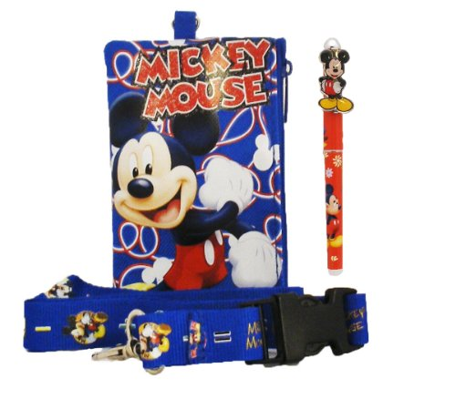 Disney Mickey Lanyard with Coin Purse with Pen - 1
