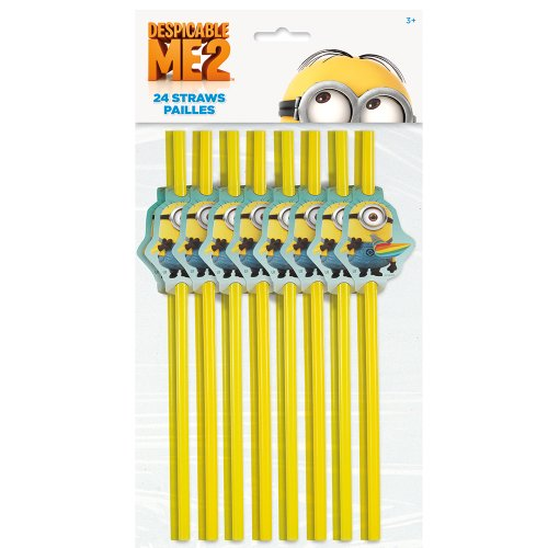 Despicable Me Party Straws, 24ct