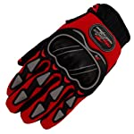 GL03 Mx Motocross Dirt Racing Bike Atv Dune Buggy Bmx Mx Quad Enduro Sports Protective Glove (M, Red)