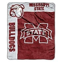 NCAA Mississippi State Bulldogs 50-Inch-by-60-Inch Raschel Plush Throw School Spirit... by Northwest
