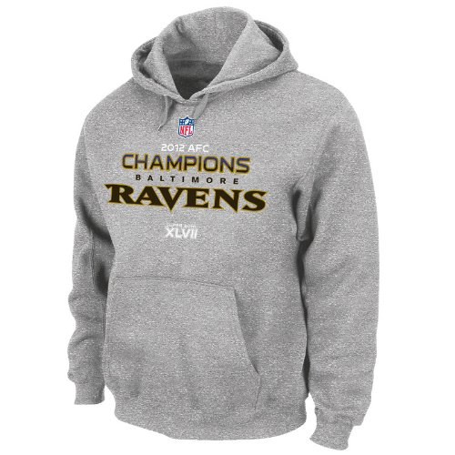 Nfl Baltimore Ravens 2012 Afc Conference Champs Official Locker Room Hoodie Picture