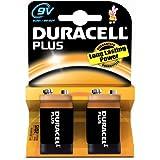 Duracell Plus MN1604 Alkaline 9 V Battery - 2-Pack