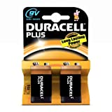 Duracell Plus MN1604 Alkaline 9 V Battery - 2-Pack